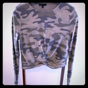 Kendall + Kylie camo top